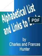 Alphabetical List and Links to Books by Charles and Frances