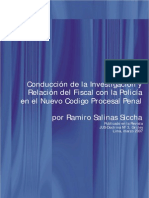 Conducción de la Investigación y Relación del Fiscal con la Policía