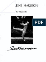 Stockhausen_Harlekin for Clarinet Solo