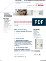 Bosch Error Codes