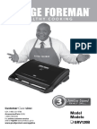 George Foreman GRV120R Use and Care Manual