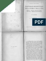 Gustavo Giovannoni Questioni Di Architettura Nella Storia e Nella Vita