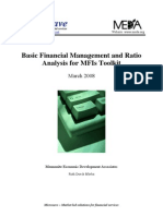 Financial Management and Ratio Analysis for MFIs Toolkit