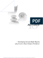 Developing Actuate Basic Reports
