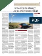 Energías renovables; ventajas y desventajas que se deben meditar.txt
