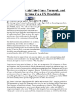 How Not to Get Aid Into Homs, Yarmouk, and to 9.3 Million Syrians Via a UN Resolution
