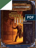 Scenario - Retour Au Temple Du Mal Elementaire
