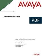 Avaya Troubleshooting Guide