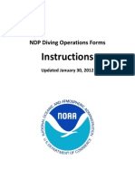 09 - NDP Diving Operations Forms Instructions