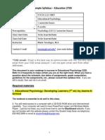psych 2220 sample syllabus