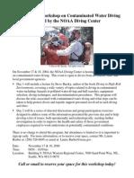 NOAA Contaminated Water Diving Workshop