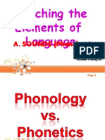 The Elements of Language (Sounds)