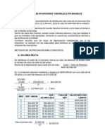Depreciacion de Las Inversiones Tangibles e Intangibles