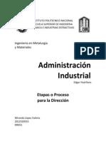 Administración, Proceso o pasos para la dirección