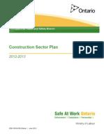 Construction Sector Plan