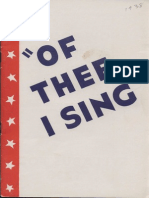 Program- Waa-Mu 1938 of Thee I Sing