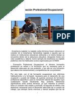 FPO Formación Profesional Ocupacional