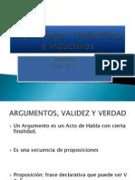 Argumentos Deductivos e Inductivos
