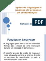 Funções de linguagem e elementos da comunicação
