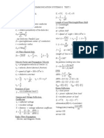 Communication Systems II Formula Sheet