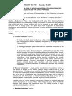 Anti-Money Laundering Act of 2001 - RA 9160