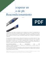 Cómo recuperar un electrodo de ph