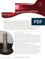 Biogas and Landfill Gas Fact Sheet 05