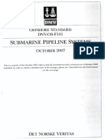 DNV OS F101 - Submarine Pipeline Systems