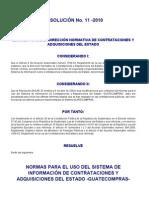 Normas Para El Uso Del Sistema Guatecompras