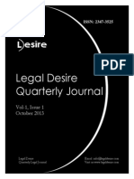 Legal Desire Quarterly Journal Vol 1