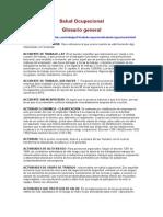 Salud Ocupacional Glosario
