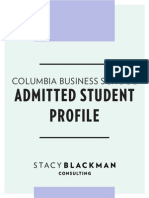 Sbc Columbia Admit Profile