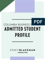 Sbc Columbia Admit Profile