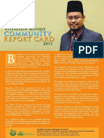 Assyakirin Mosque Community Report Card 2013