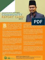 Assyakirin Mosque Community Report Card 2013