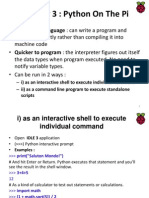 Python on the Pi CHAPTER 3