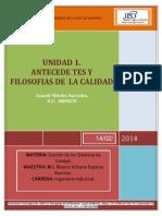 Investigacion de La Unidad 1 Antecedentes y Filosofia de La Calida