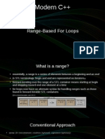 Modern C++ Range Based for Loops