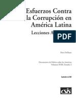 Esfuerzos Contra La Corrupcion en America Latina - Lecciones Aprendidas