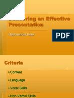 Delivering an Effective Presentation