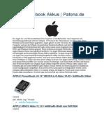 Apple Notebook Akkus