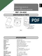 Citizen Instruction Manual CH-403C