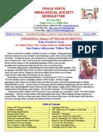 CVGS 2014-0CVGS 2014-Chula Vista Genealogical Society - January 2014 Newsletter