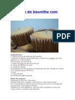 Cupcake de Baunilha Com Nutella