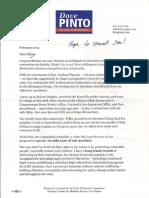 Pinto Delegate Letter