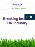 Breaking Into the HR Industry