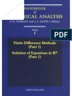Ciarlet & Lyons - Handbook of Numerical Analysis v1 - Finite Difference Methods (Part1)