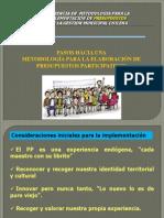 Orientaciones Metodològicas implementaciòn PP