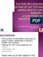 Factors Influencing Uptake of Hiv Testing Among Health Care Workers