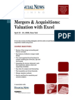 Mergers Acquisitions Valuation With Excel